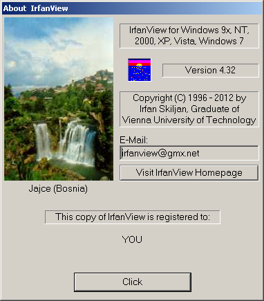 IrfanView Version 4.32
